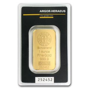 Goldbarren mit Prägenummer