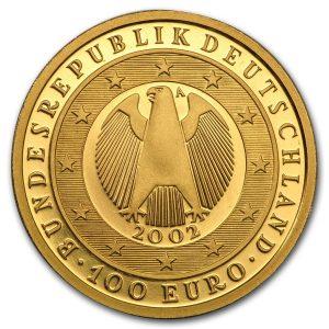 100 Euro Gedenkmünze der BRD mit Münzzeichen A (Berlin)